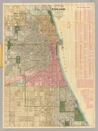 Map Chicago Blanchard U0027s Guide Map Of Chicago David Rumsey Historical Map