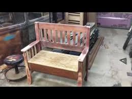 shabby chic bench youtube