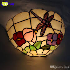 Stained Glass Wall Sconce Fumat Wall Light Brief European Style Restaurant Wall