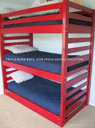 Wood Bunk Bed Plans Easy by 14 Best Triple Bunk Bed Plans Images On Pinterest Triple Bunk