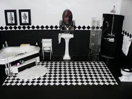 black and white bathroom design ideas 201 best miniature bathrooms images on dollhouses