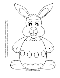 easter bunny coloring free craft checked