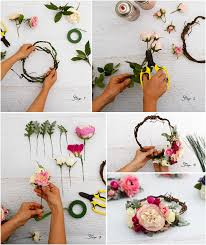 crowning floral spray how to make a floral crown