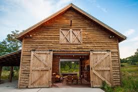 pole barn living quarter farmhouse exterior home design ideas