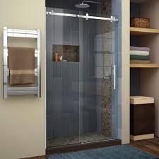 Glass Shower Sliding Doors Frameless Frameless Sliding Shower Doors Adeltmechanical Door Ideas