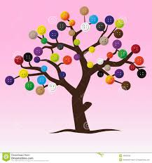 mystic button tree with color buttons for clothing stock vector