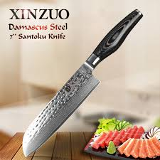japanese damascus kitchen knives aliexpress buy xinzuo 73 layers 7 inch santoku knife