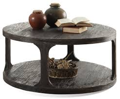 round cocktail table w shelf by riverside furniture wolf and