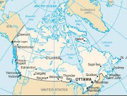 kanada fläche kanada canada landesübersicht einwohnerzahl fläche landkarte