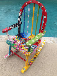 Nicaraguan Rocking Chairs Sale Hand Painted Kids Rocking Chair Whimsical Painted