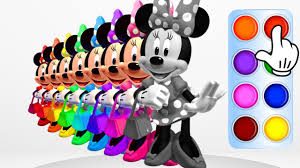 learn colors with minnie mouse handbag learning color animation