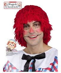 raggedy andy mens wig men costume