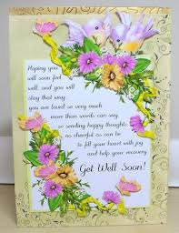 get well soon flowers get well soon card with flowers and birds cup308747 1446