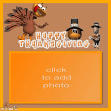 animated thanksgiving turkey pilgrim photo frame imikimi