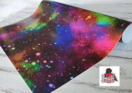 galaxy wrapping paper rainbow galaxy wrapping paper sheets space gift wrap gw5051 from