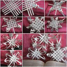 the diy woven paper snowflake ornaments paper