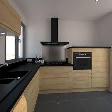 cuisine moderne et design cuisine en bois sans poignée ipoma chêne naturel kitchens