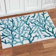 refreshing nautical square kitchen rugs coastal kitchen rugs that