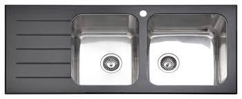Black Kitchen Sink Kitchen Kitchen Faucets Single Handle Brushed - Glass sink kitchen