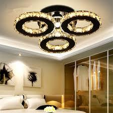 luminaire pour chambre moder led lustre 3 5 anneaux cristal plafond lustres luminaire pour