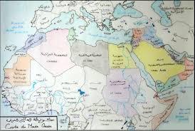 map arab maps of the arabic world خريطة العالم العربي v arabic