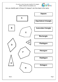 visualise describe and classify 2d shapes