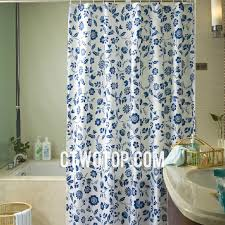 Blue And Green Shower Curtains Floral Patterns Blue Colored Shower Curtains