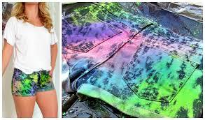 diy shorts paint splattered inspired youtube