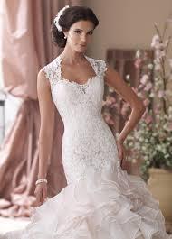blush pink mermaid ruffled skirt wedding dress 114276 crawley