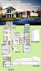 home floor plans with inlaw suite plan 430006ly modern house