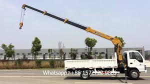 4 ton isuzu hydraulic telescopic boom truck mounted crane for