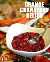 orange cranberry relish like like