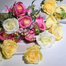 Wedding Flowers Background Online Shop Miiseason 30pcs Lot Diy Artificial Rose Flower Heads
