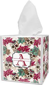 sugar skulls u0026 flowers tissue box cover personalized potty