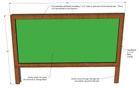 Woodworking Plans For A King Size Storage Bed by Ana White King Size Framed Upholstered Headboard Diy Projects