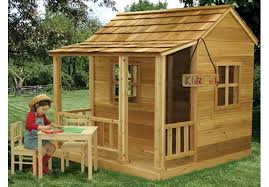 Wooden Backyard Playhouse Little Cedar Playhouse 6 U0027x6 U0027 By Outdoor Living Wood Playhouses