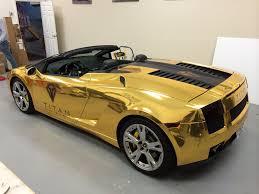 gold chrome lamborghini aventador chrome vinyl wrap davie car wrap
