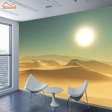 ecran bureau shinehome grand fonds d écran personnalisés 3d salon désert coucher