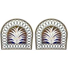 pair of deco stained glass miami beach headboards for sale at 1stdibs