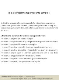 clinical manager resume top 8 clinical manager resume sles 1 638 jpg cb 1428498102