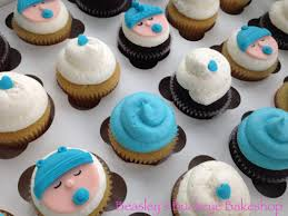 baby shower cupcakes baby boy fondant cupcake toppers baby boy