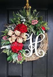 monogram front door decoration on sale wreath for front door