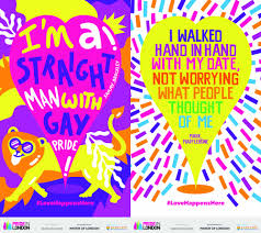 list of colours paint the town rainbow lgbt posters fill the capital as part of