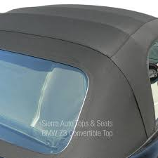 bmw z3 convertible top in black twillfast ii cloth with plastic window