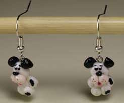 customized earrings dalmatian dogs earrings ears dog earrings puppy earrings