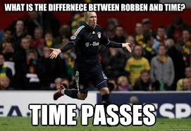 Robben Meme - what is the differnece between robben and time time passes