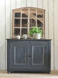small 2 door cabinet pine two door cabinet with dark grey paintwork