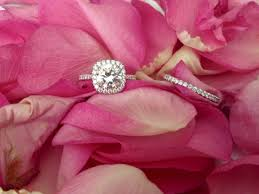 valentines day ring silver ring and pink petals happy valentines day