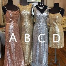 silver sequin bridesmaid dresses gold chagne silver sequin bridesmaid dresses 2017