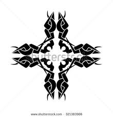 tattoo tribal cross designs vector sketch stock vector 303521621